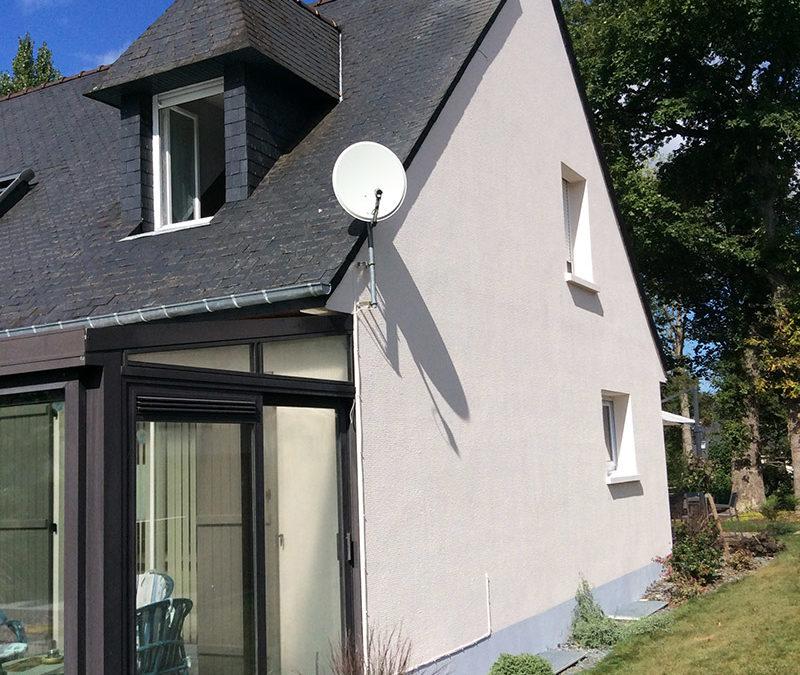 Ravalement de façade (maison à Betton)